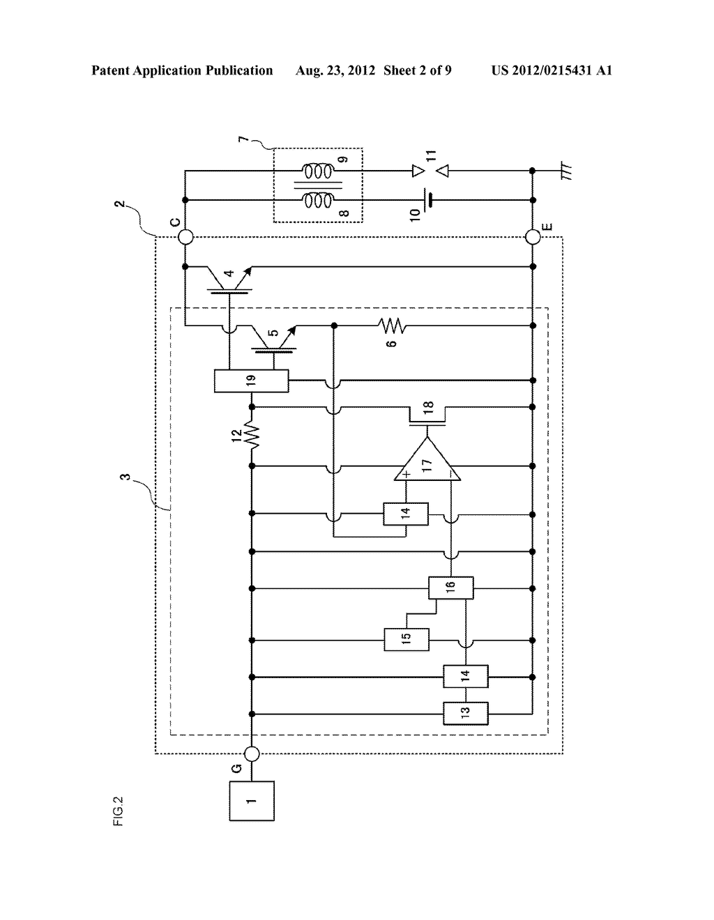 SEMICONDUCTOR DEVICE PROVIDING A CURRENT CONTROL FUNCTION AND A SELF SHUT     DOWN FUNCTION - diagram, schematic, and image 03