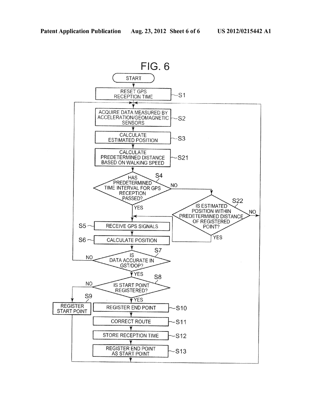 POSITIONING APPARATUS, POSITIONING METHOD, AND STORAGE MEDIUM FOR     MEASURING POSITION USING BOTH AUTONOMOUS NAVIGATION AND GPS - diagram, schematic, and image 07