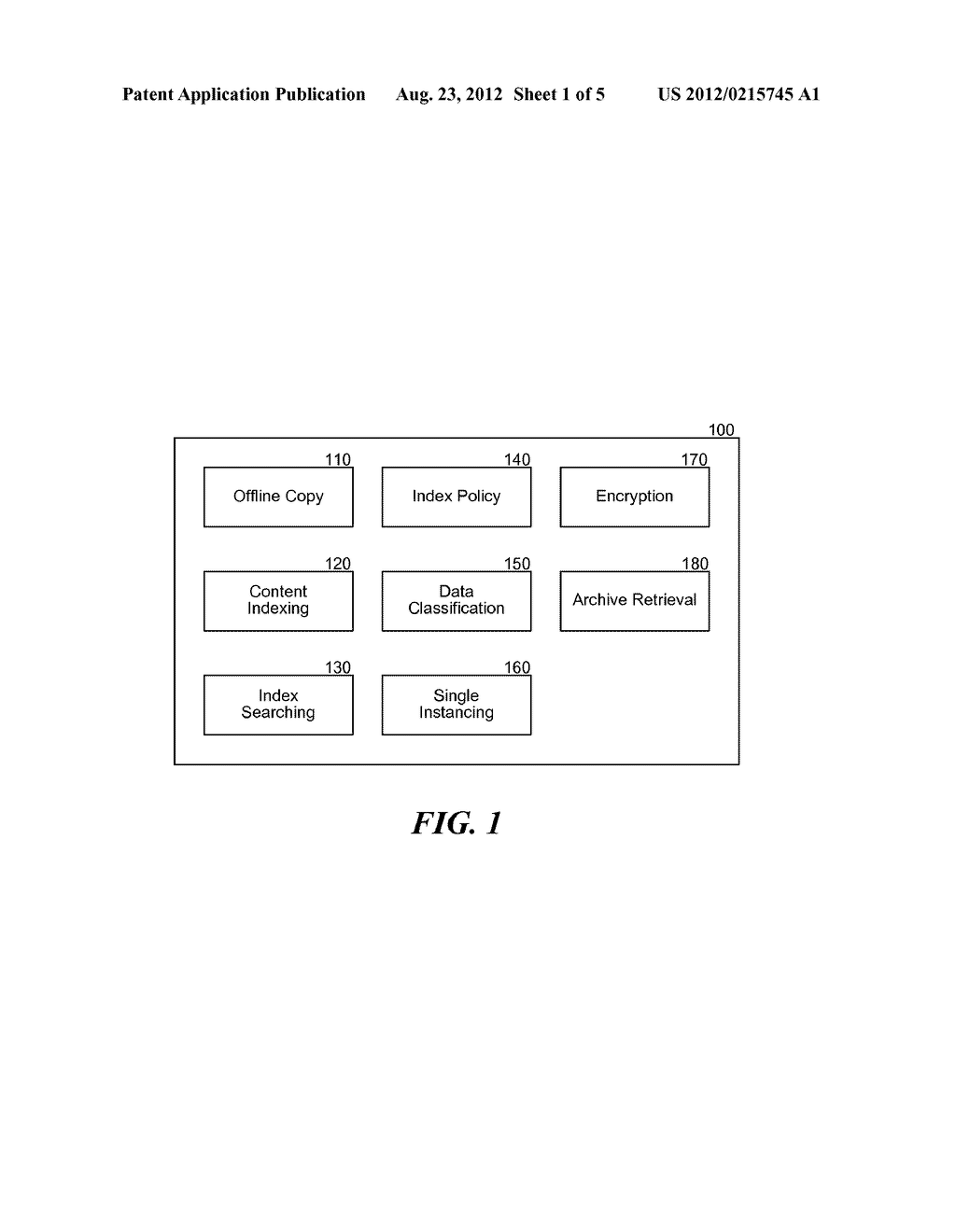 METHOD AND SYSTEM FOR OFFLINE INDEXING OF CONTENT AND CLASSIFYING STORED     DATA - diagram, schematic, and image 02