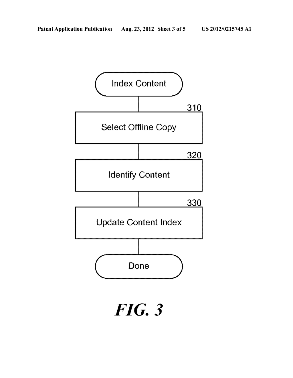 METHOD AND SYSTEM FOR OFFLINE INDEXING OF CONTENT AND CLASSIFYING STORED     DATA - diagram, schematic, and image 04