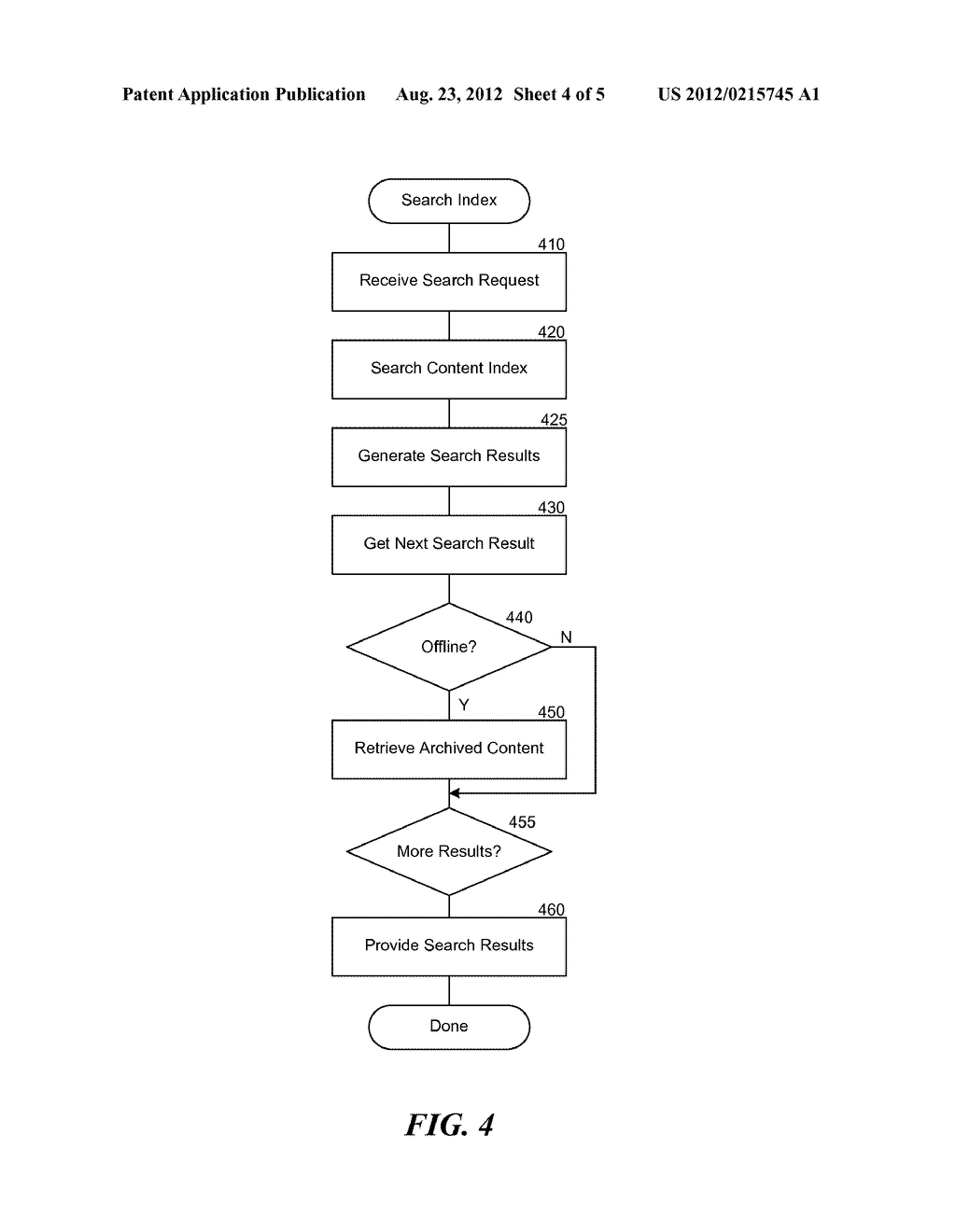 METHOD AND SYSTEM FOR OFFLINE INDEXING OF CONTENT AND CLASSIFYING STORED     DATA - diagram, schematic, and image 05