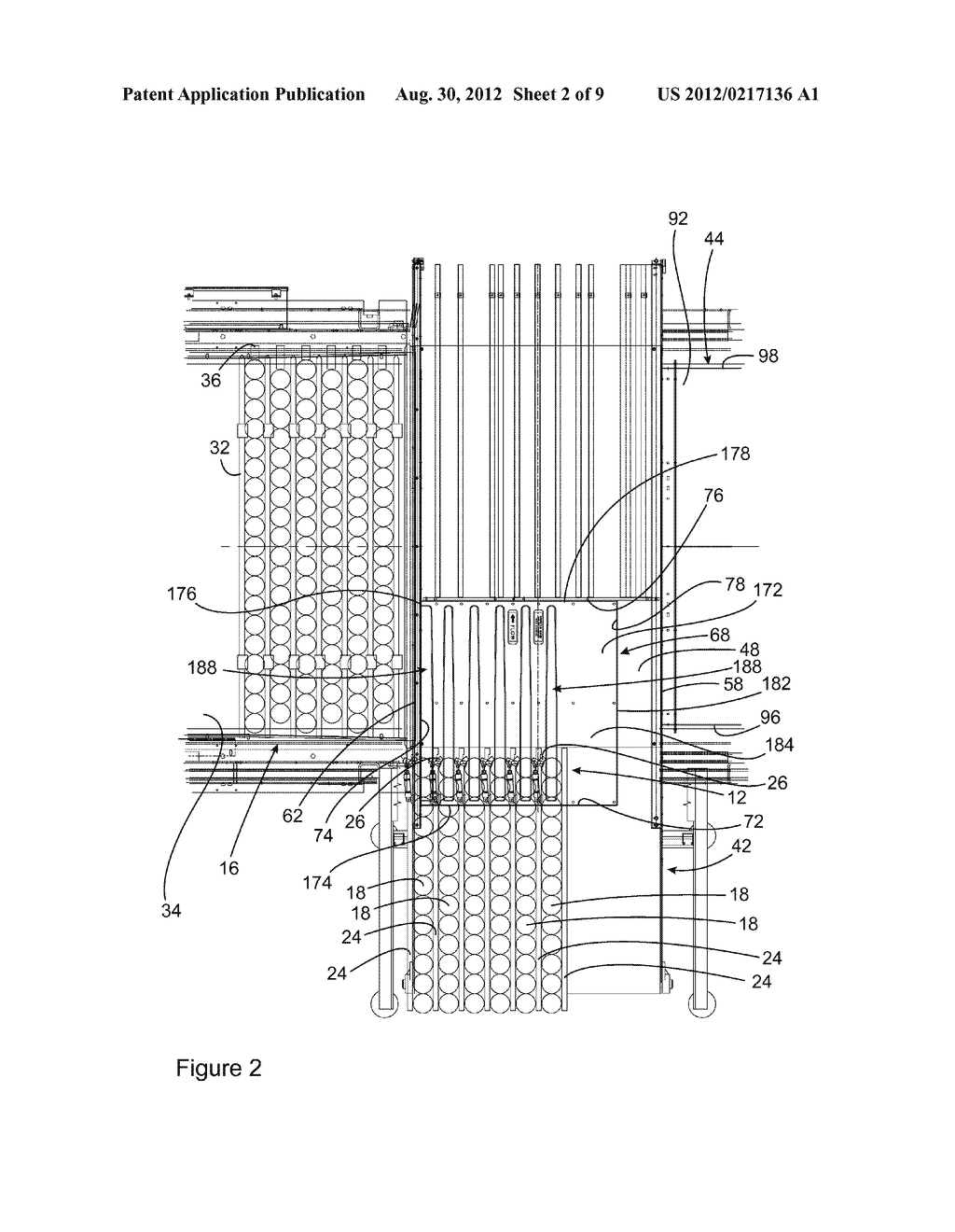 VACUUM CONVEYOR APPARATUS FOR STABILIZING MULTIPLE LANES OF OBJECTS     CONVEYED ON A CONVEYING SURFACE OF THE APPARATUS - diagram, schematic, and image 03