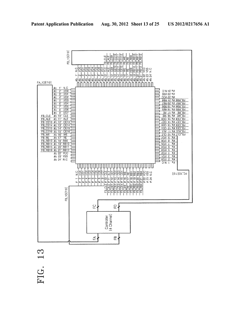 Semiconductor Package Including Multiple Chips And Separate Groups of     Leads - diagram, schematic, and image 14