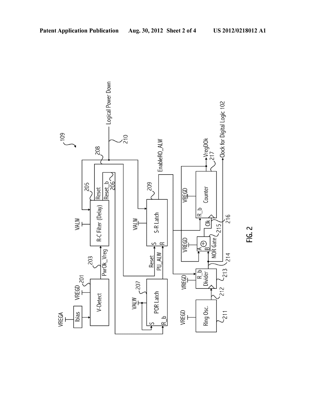 ON-CHIP POWER-UP CONTROL CIRCUIT - diagram, schematic, and image 03