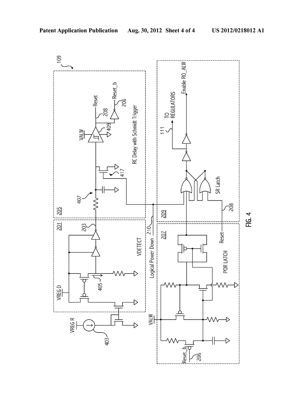 ON-CHIP POWER-UP CONTROL CIRCUIT - diagram, schematic, and image 05