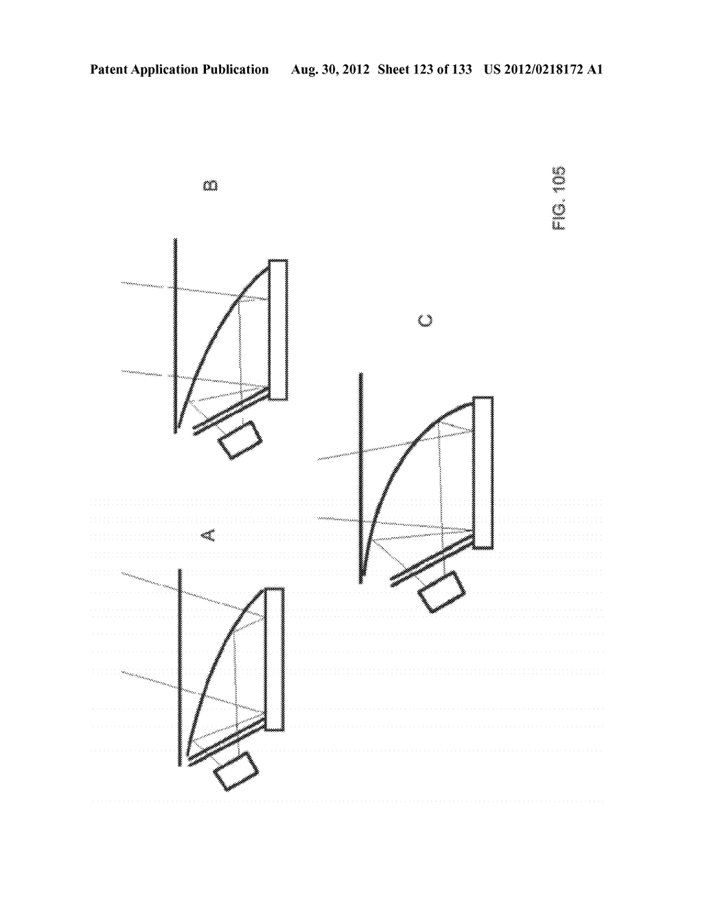 SEE-THROUGH NEAR-EYE DISPLAY GLASSES WITH A SMALL SCALE IMAGE SOURCE - diagram, schematic, and image 124