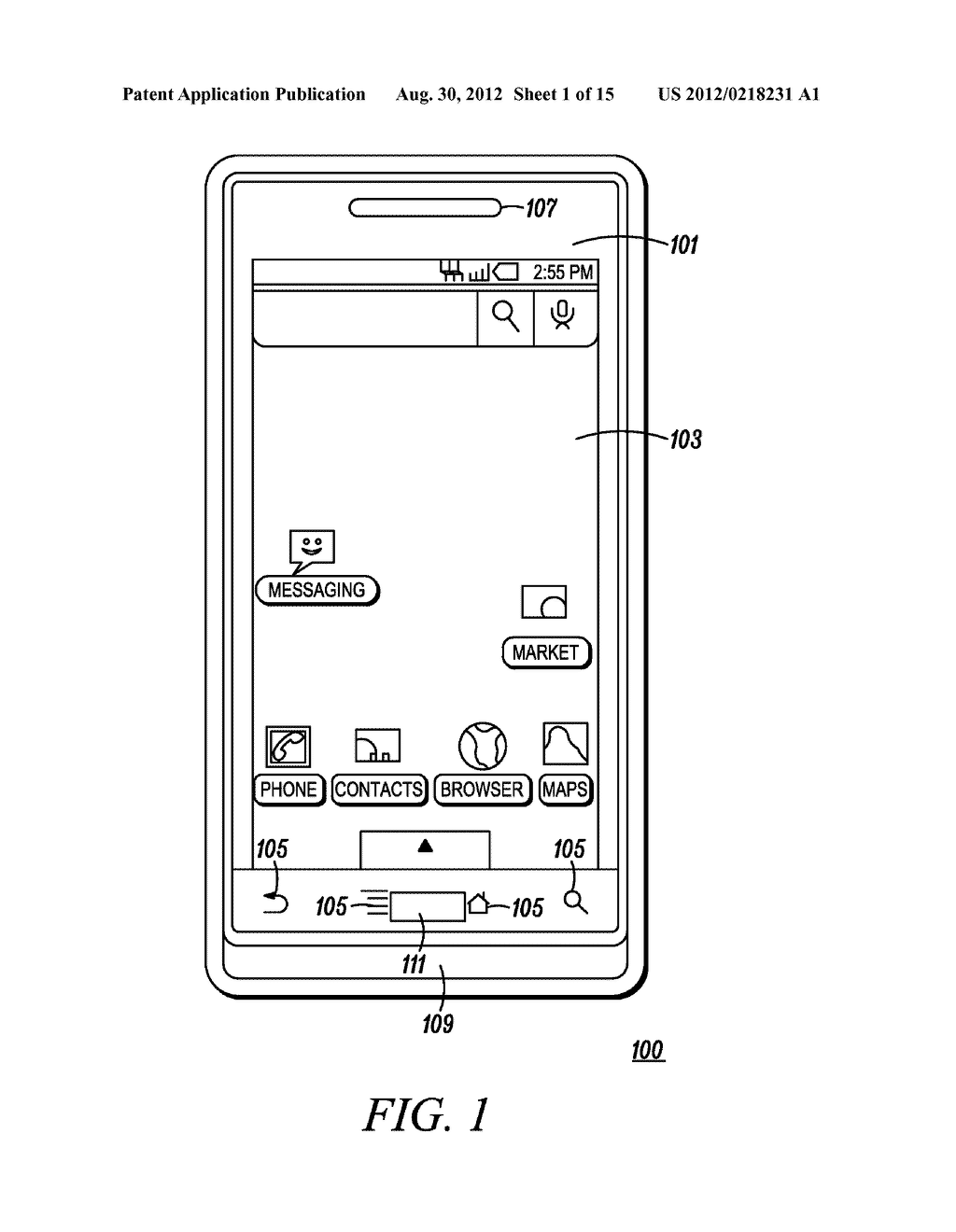 Electronic Device and Method for Calibration of a Touch Screen - diagram, schematic, and image 02