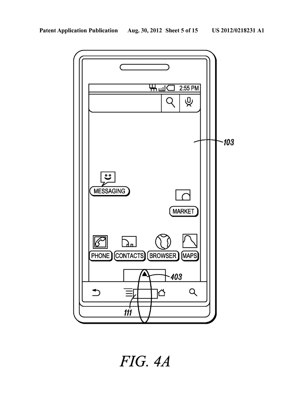 Electronic Device and Method for Calibration of a Touch Screen - diagram, schematic, and image 06
