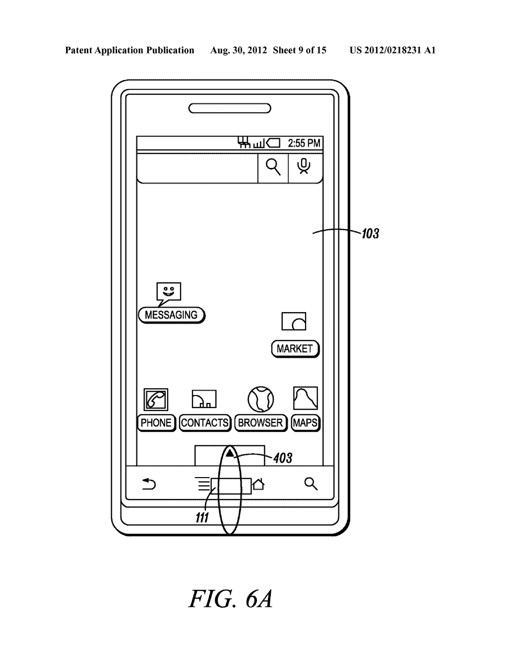 Electronic Device and Method for Calibration of a Touch Screen - diagram, schematic, and image 10