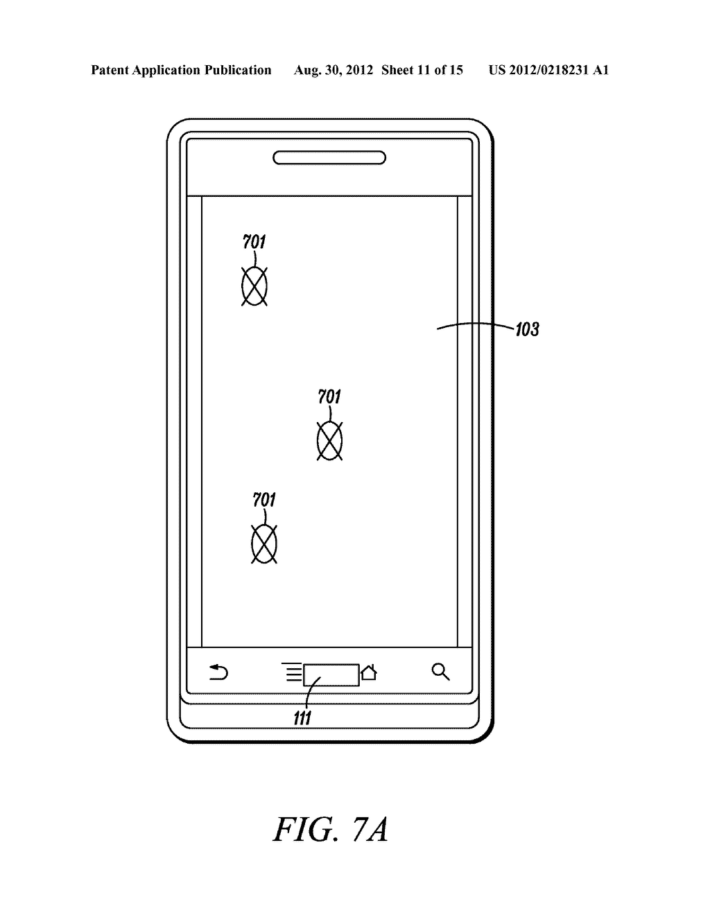 Electronic Device and Method for Calibration of a Touch Screen - diagram, schematic, and image 12