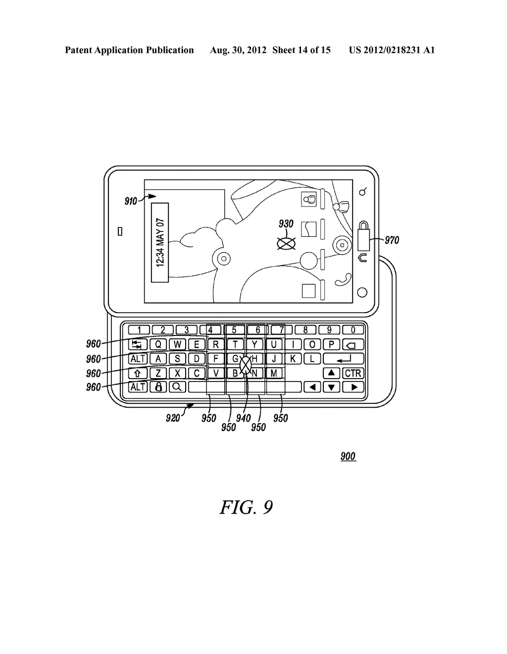 Electronic Device and Method for Calibration of a Touch Screen - diagram, schematic, and image 15