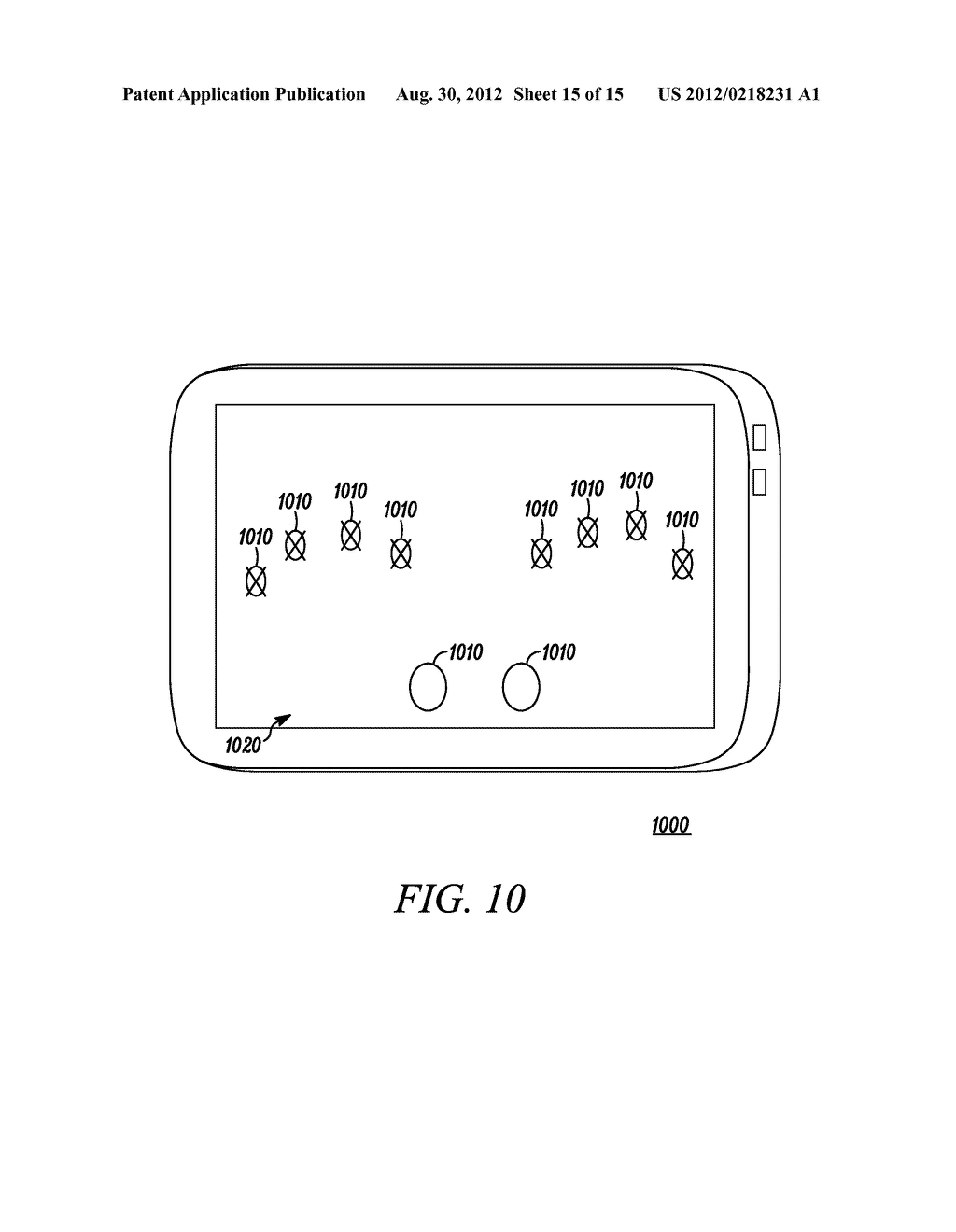 Electronic Device and Method for Calibration of a Touch Screen - diagram, schematic, and image 16