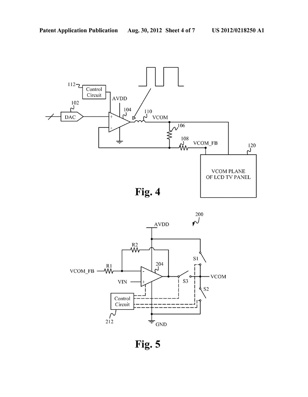 VCOM AMPLIFIER WITH TRANSIENT ASSIST CIRCUIT - diagram, schematic, and image 05