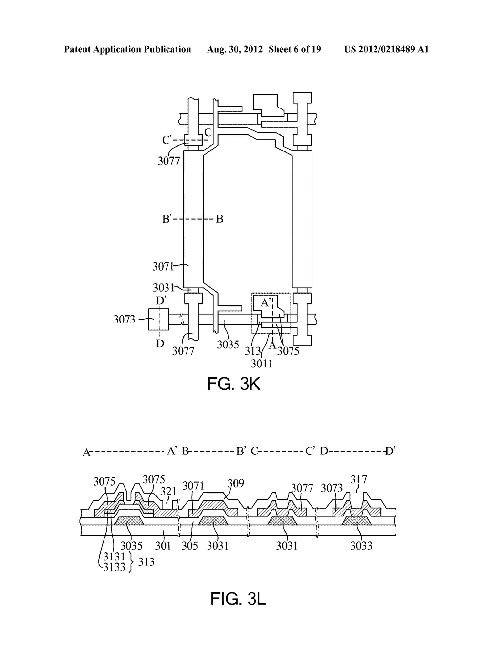 Liquid Crystal Display Unit Structure Including a Patterned Etch Stop     Layer Above a First Data Line Segment - diagram, schematic, and image 07