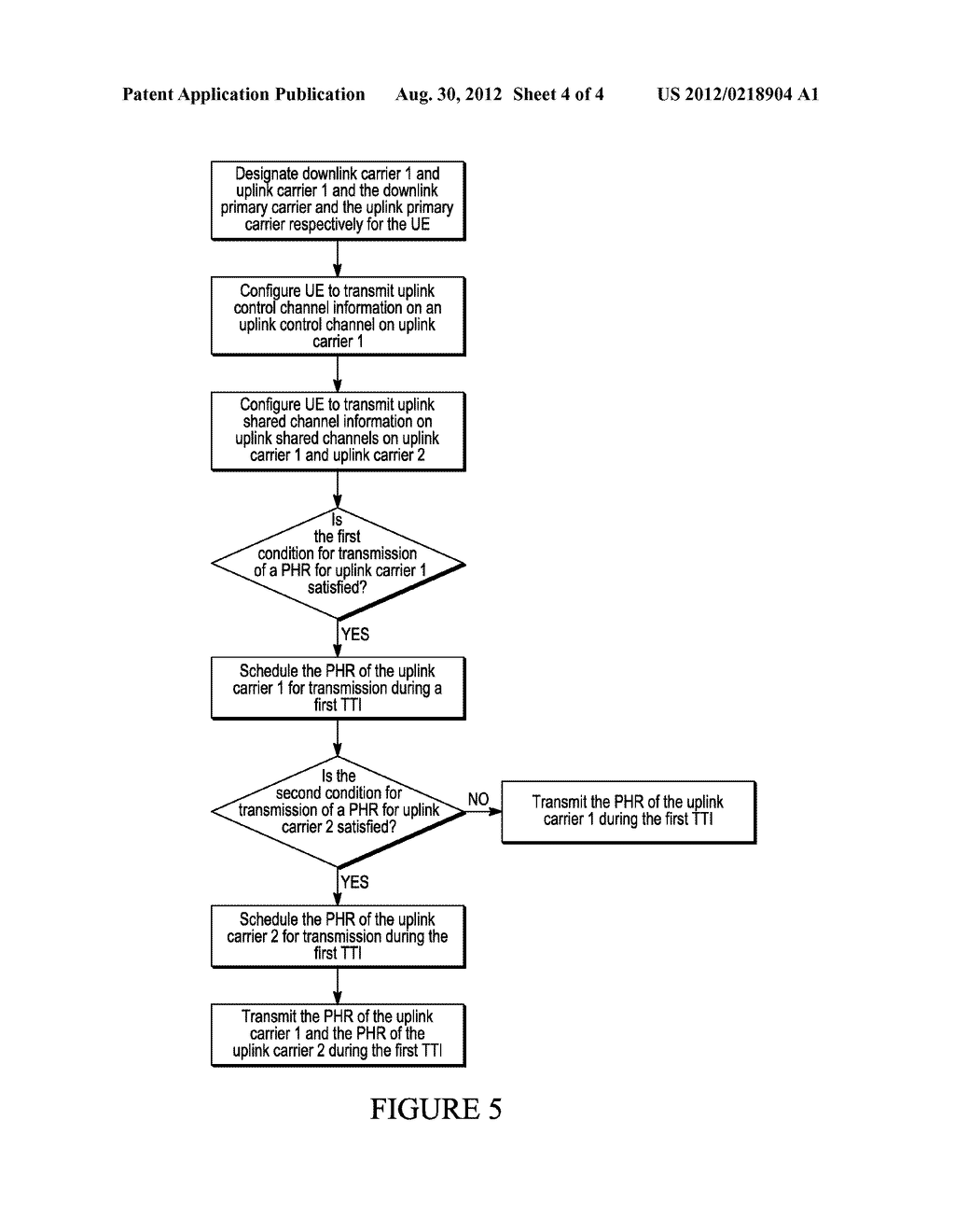 METHOD AND APPARATUS FOR POWER HEADROOM REPORTING DURING MULTI-CARRIER     OPERATION - diagram, schematic, and image 05