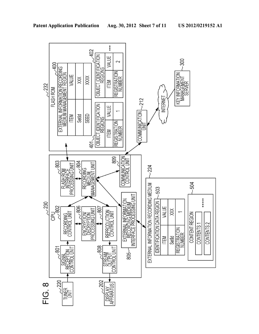 KEY INFORMATION MANAGEMENT SYSTEM, RECORD REPRODUCTION APPARATUS, AND KEY     INFORMATION MANAGEMENT APPARATUS - diagram, schematic, and image 08