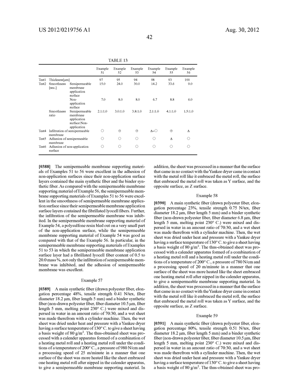 SEMIPERMEABLE MEMBRANE SUPPORTING BODY, SPIRAL-WOUND SEMIPERMEABLE     MEMBRANE ELEMENT, AND METHOD FOR PRODUCING SEMIPERMEABLE MEMBRANE     SUPPORTING BODY - diagram, schematic, and image 50