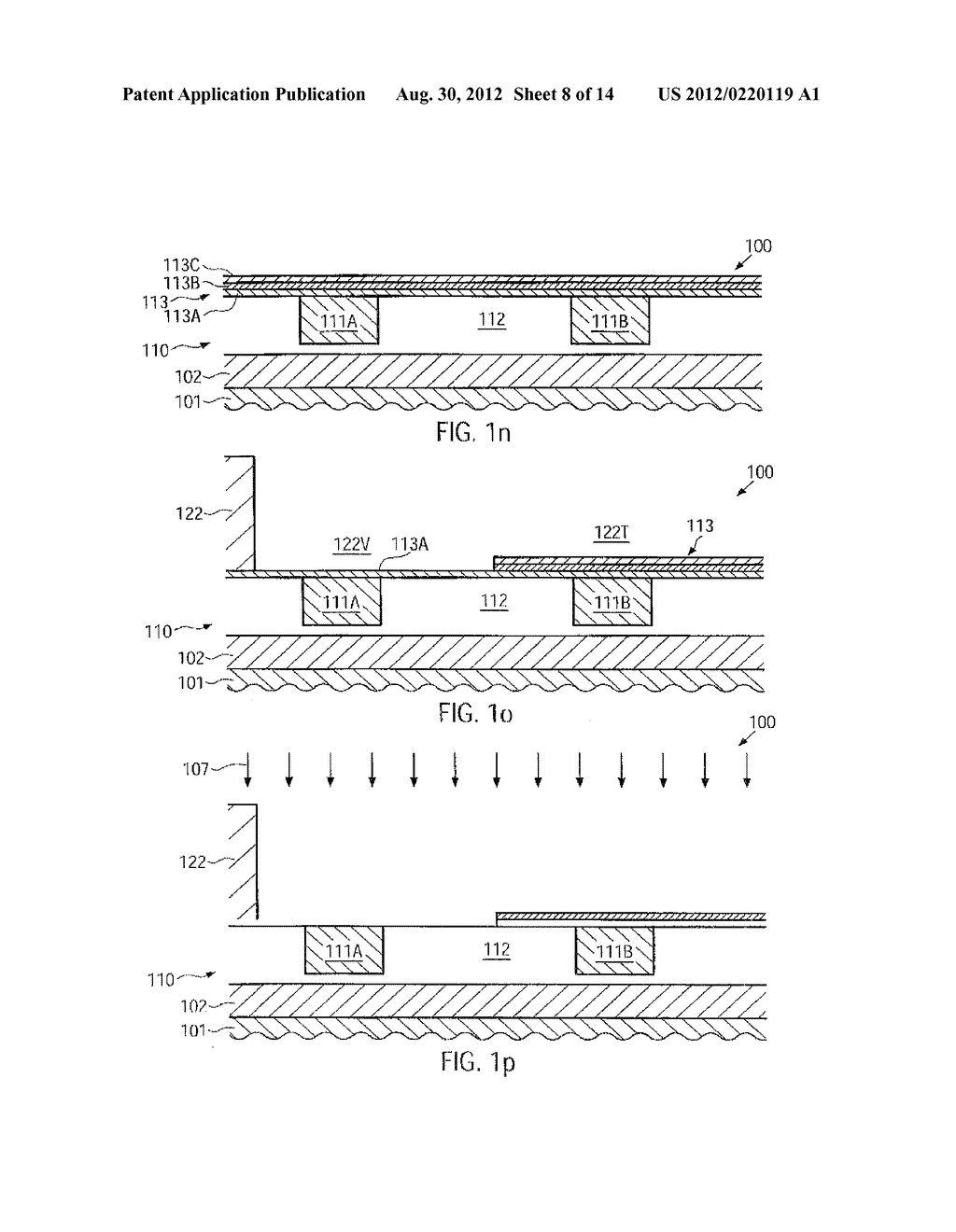 SEMICONDUCTOR DEVICE AND METHOD FOR PATTERNING VERTICAL CONTACTS AND METAL     LINES IN A COMMON ETCH PROCESS - diagram, schematic, and image 09
