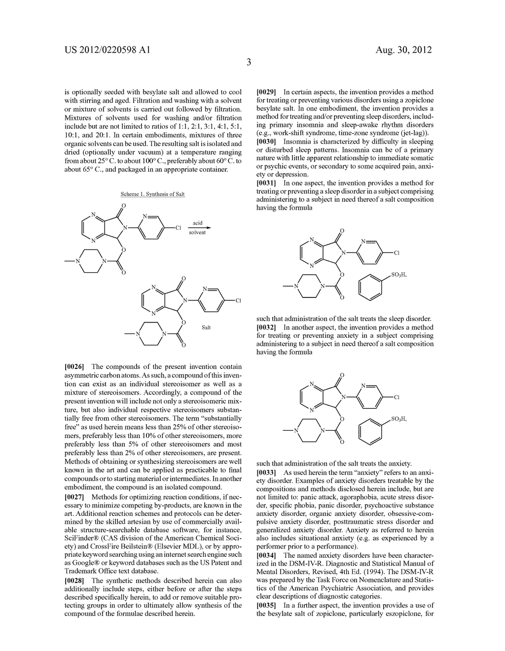 Besylate Salts of 6-(5-Chloro-2-Pyridyl)-5-[(4     Methyl-1-Piperazinyl)Carbonyloxy]-7-oxo-6,     7-dihydro-5H-Pyrrolo[3,4-b]Pyrazine - diagram, schematic, and image 05