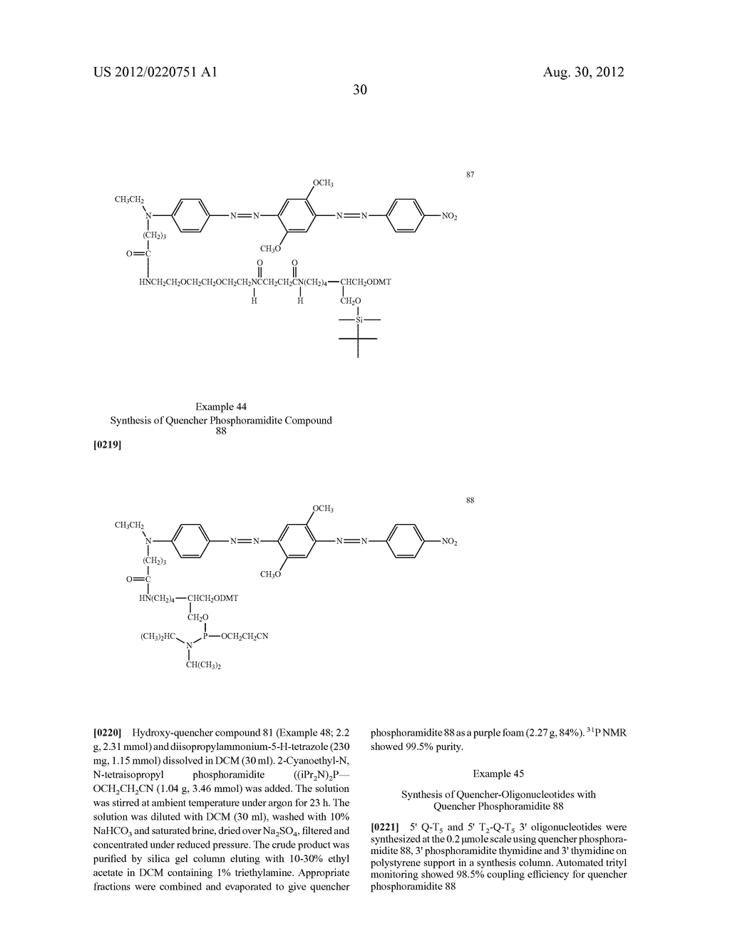 Non-Fluorescent Quencher Compounds and Biomolecular Assays - diagram, schematic, and image 31