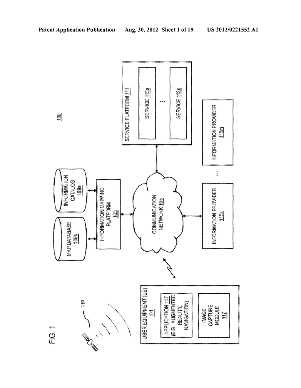 METHOD AND APPARATUS FOR PROVIDING AN ACTIVE SEARCH USER INTERFACE ELEMENT - diagram, schematic, and image 02