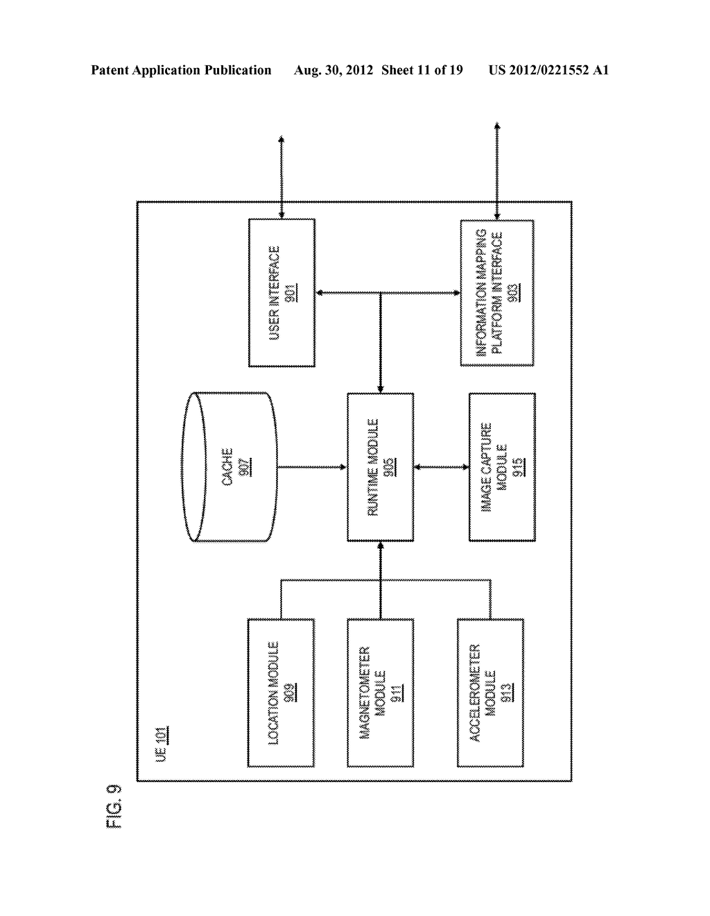 METHOD AND APPARATUS FOR PROVIDING AN ACTIVE SEARCH USER INTERFACE ELEMENT - diagram, schematic, and image 12