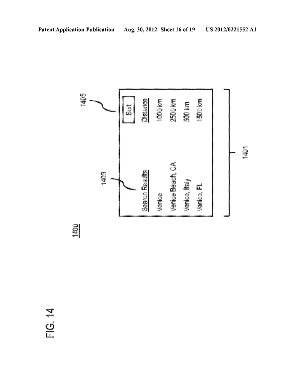 METHOD AND APPARATUS FOR PROVIDING AN ACTIVE SEARCH USER INTERFACE ELEMENT - diagram, schematic, and image 17
