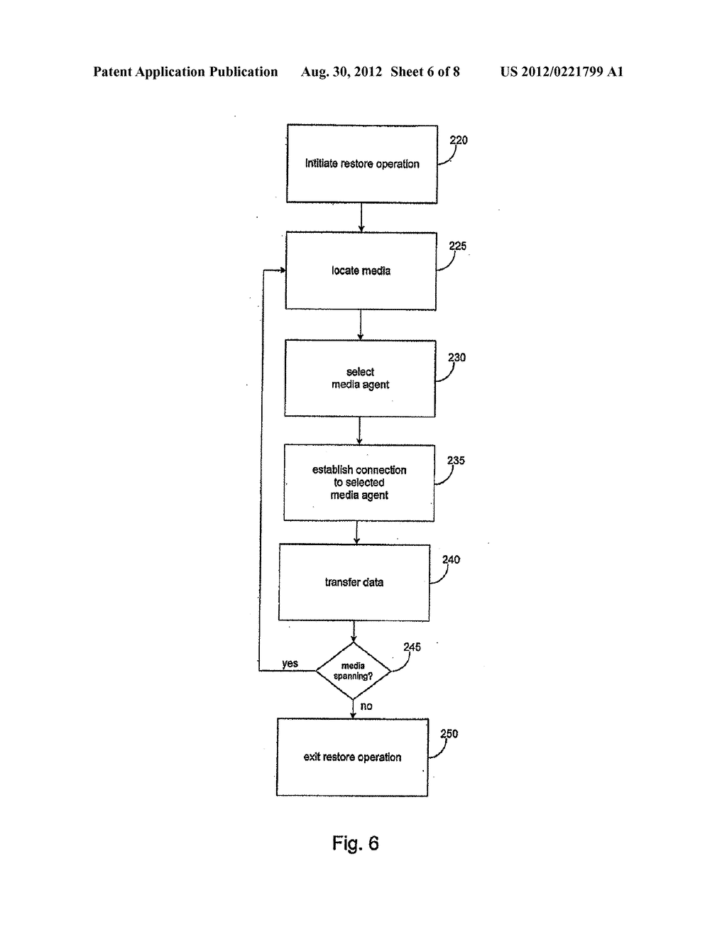 SYSTEMS AND METHODS FOR PERFORMING STORAGE OPERATIONS IN A COMPUTER     NETWORK - diagram, schematic, and image 07