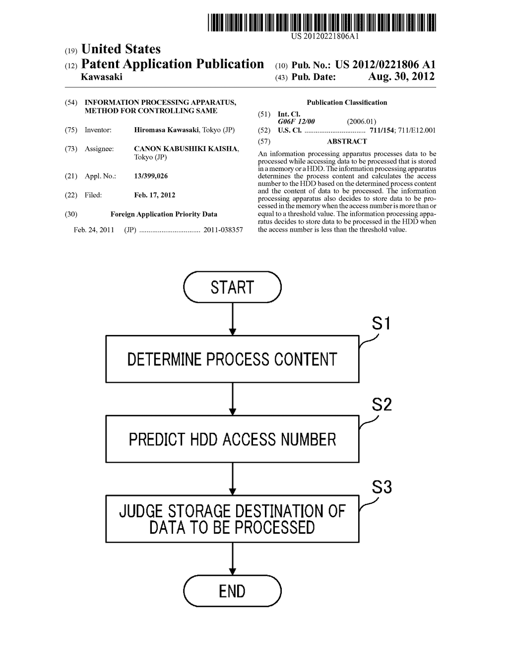 INFORMATION PROCESSING APPARATUS, METHOD FOR CONTROLLING SAME - diagram, schematic, and image 01