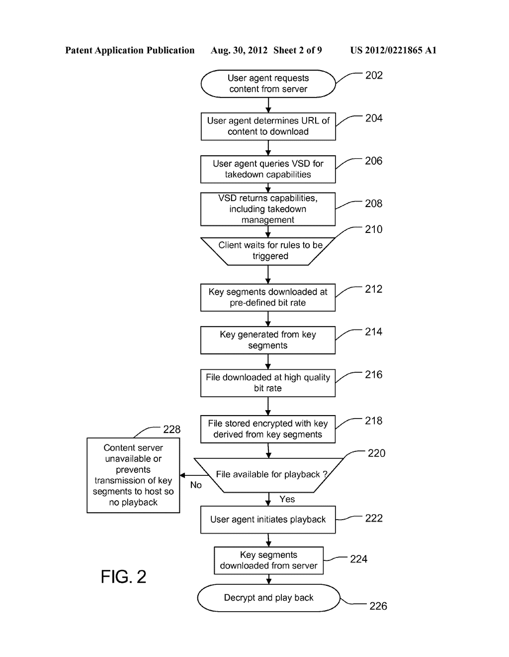 METHOD AND APPARATUS FOR PROTECTING CACHED STREAMS - diagram, schematic, and image 03