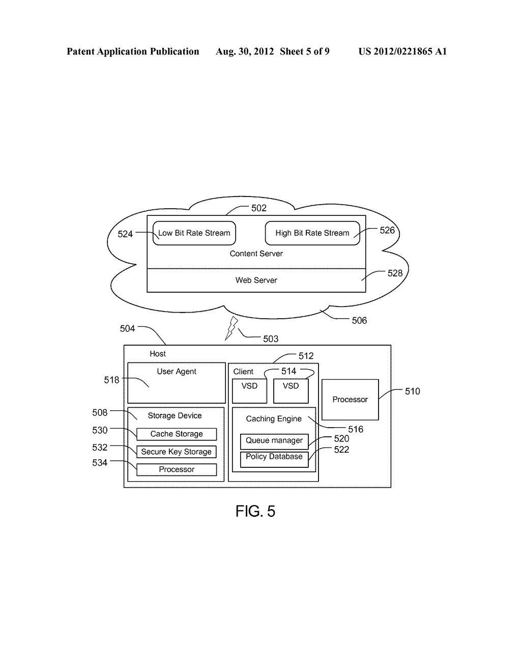 METHOD AND APPARATUS FOR PROTECTING CACHED STREAMS - diagram, schematic, and image 06