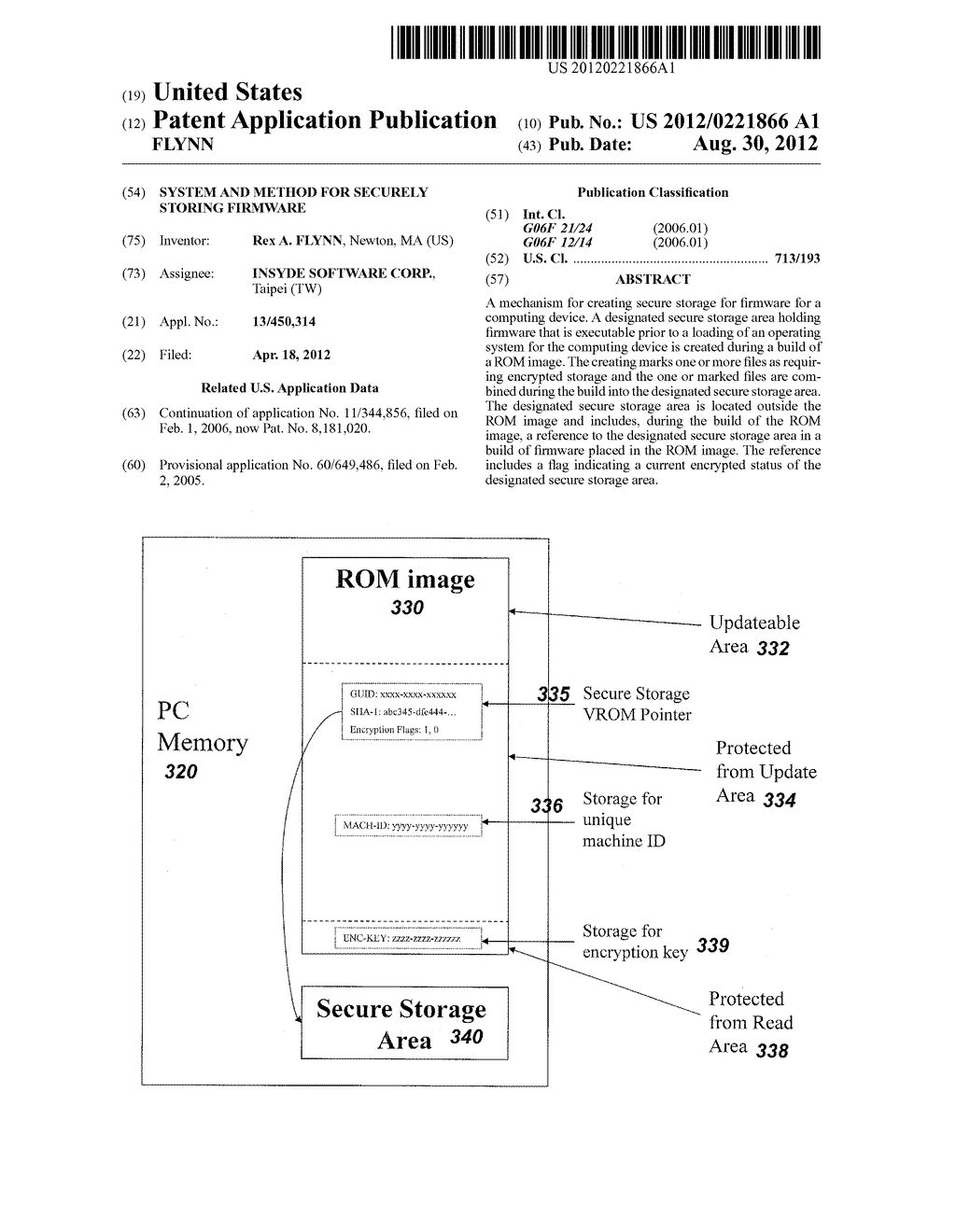 SYSTEM AND METHOD FOR SECURELY STORING FIRMWARE - diagram, schematic, and image 01
