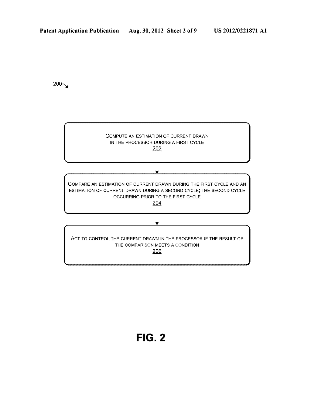 METHOD, APPARATUS, AND SYSTEM FOR ENERGY EFFICIENCY AND ENERGY     CONSERVATION INCLUDING DETECTING AND CONTROLLING CURRENT RAMPS IN     PROCESSING CIRCUIT - diagram, schematic, and image 03