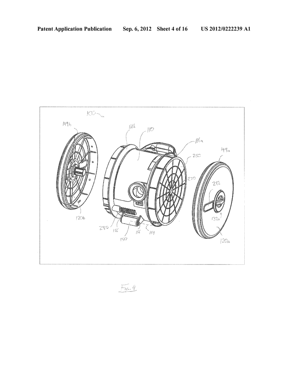 REMOVABLE CYCLONE CHAMBER AND DIRT COLLECTION ASSEMBLY FOR A SURFACE     CLEANING APPARATUS - diagram, schematic, and image 05