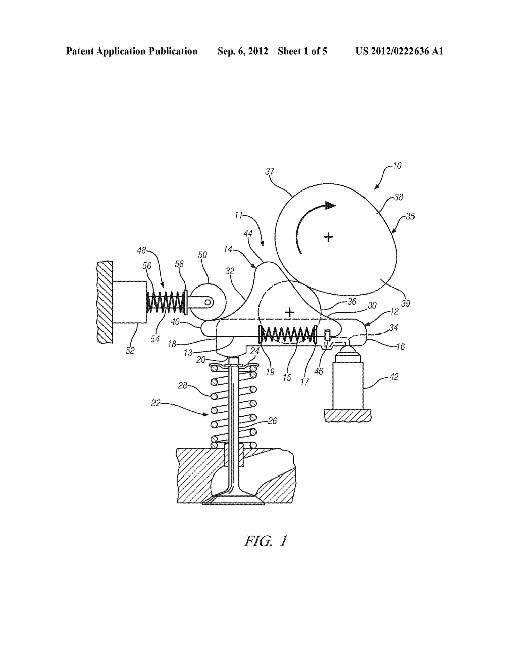 VARIABLE VALVE ACTUATION MECHANISM FOR OVERHEAD-CAM ENGINES WITH AN  OSCILLATING/SLIDING FOLLOWER - diagram, schematic, and image 02