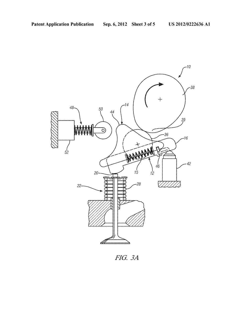 VARIABLE VALVE ACTUATION MECHANISM FOR OVERHEAD-CAM ENGINES WITH AN  OSCILLATING/SLIDING FOLLOWER - diagram, schematic, and image 04
