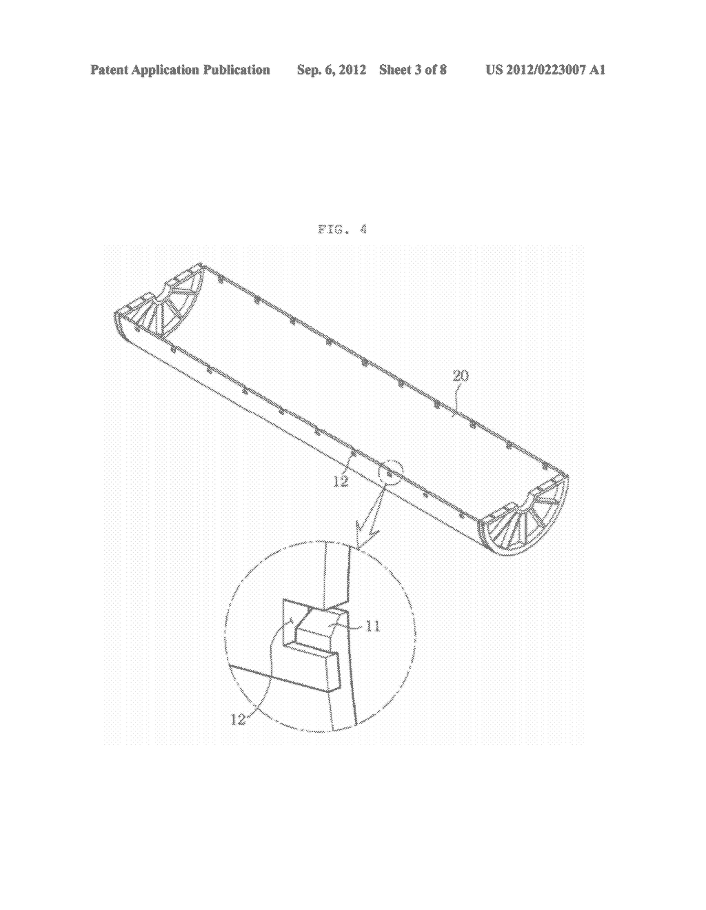 TUBULAR MOLDED BODY CAPABLE OF FULL-WRAPPING MEMBRANE MODULE AND     INDUSTRIAL FILTER ASSEMBLY USING THE SAME - diagram, schematic, and image 04