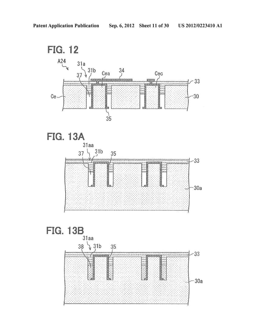 REGION-DIVIDED SUBSTRATE, SEMICONDUCTOR DEVICE HAVING REGION-DIVIDED     SUBSTRATE, AND METHOD FOR MANUFACTURING THE SAME - diagram, schematic, and image 12