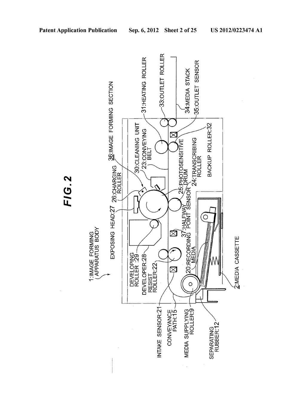 IMAGE FORMING APPARATUS HAVING FIRST AND SECOND GROUND CONDUCTING ROUTES - diagram, schematic, and image 03