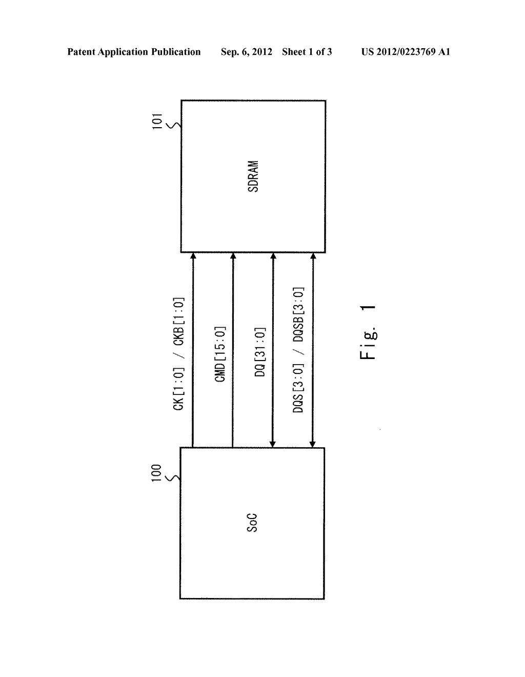 SEMICONDUCTOR INTEGRATED CIRCUIT WITH DATA TRANSMITTING AND RECEIVING     CIRCUITS - diagram, schematic, and image 02