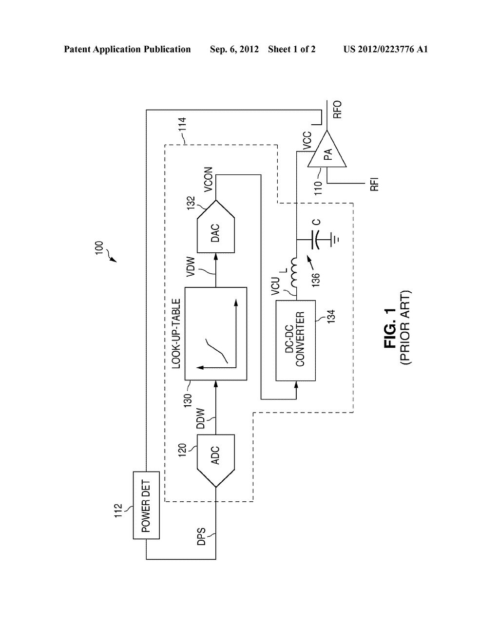 POWER SUPPLY CONTROLLER FOR A MULTI-GAIN STEP RF POWER AMPLIFIER - diagram, schematic, and image 02