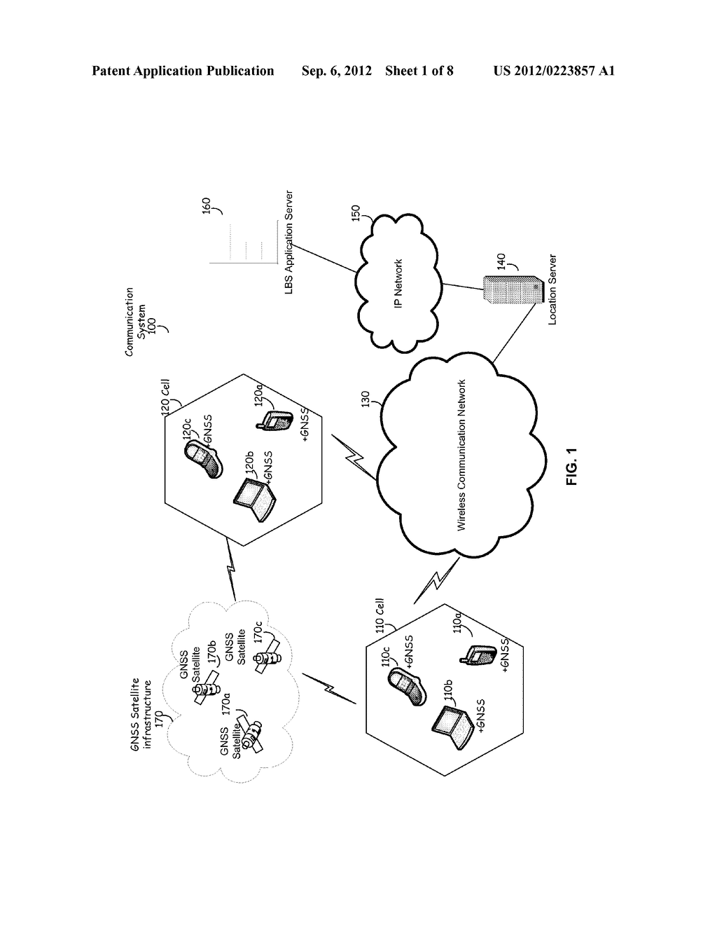 METHOD AND SYSTEM FOR DETERMINING A POSITION OF A MOBILE COMMUNICATION     DEVICE - diagram, schematic, and image 02