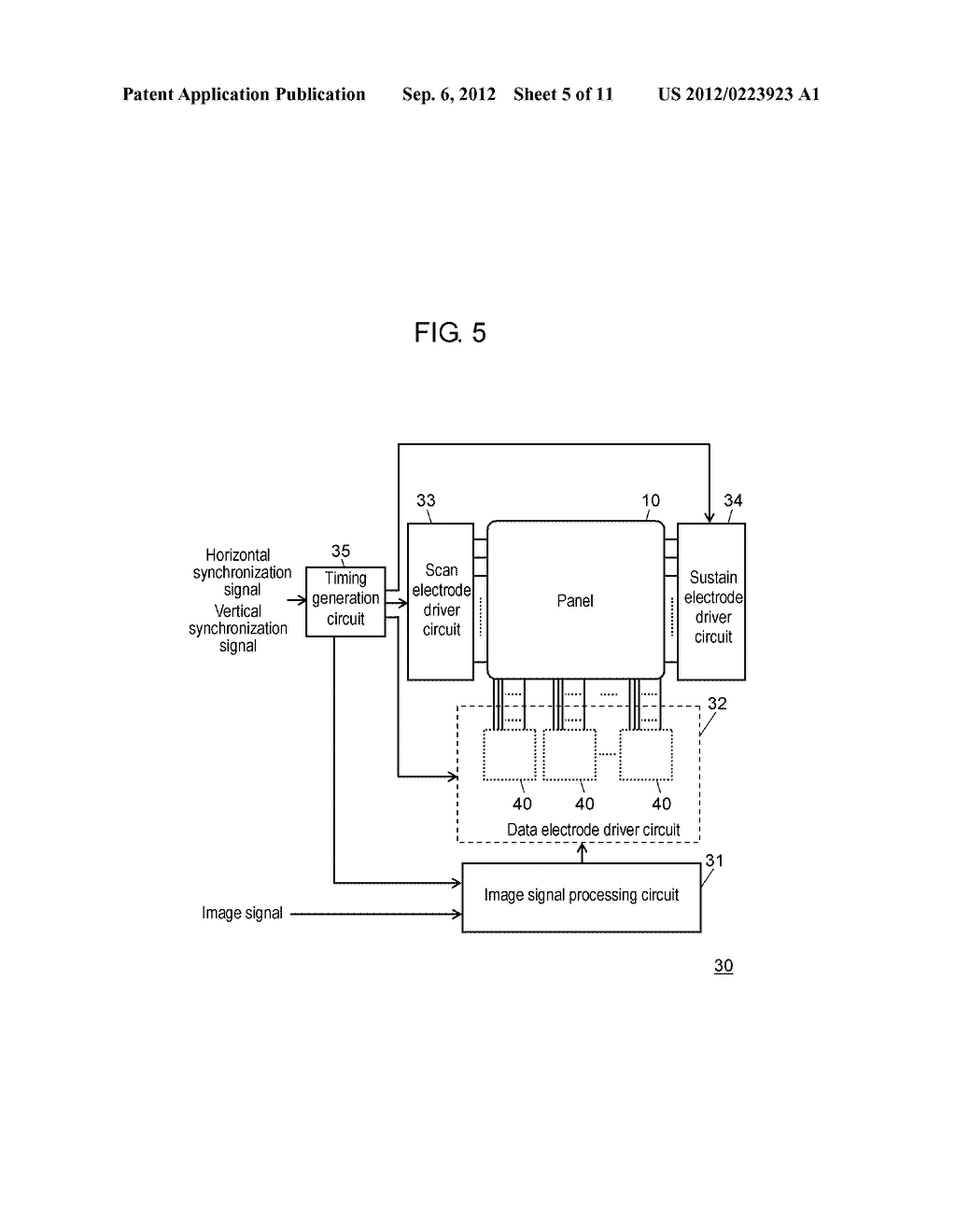 PLASMA DISPLAY DEVICE AND METHOD FOR DRIVING PLASMA DISPLAY PANEL - diagram, schematic, and image 06
