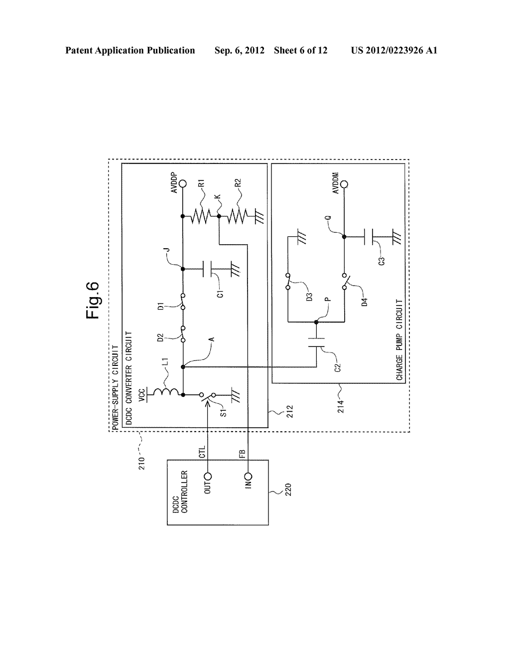 POWER-SUPPLY CIRCUIT AND LIQUID CRYSTAL DISPLAY DEVICE PROVIDED THEREWITH - diagram, schematic, and image 07