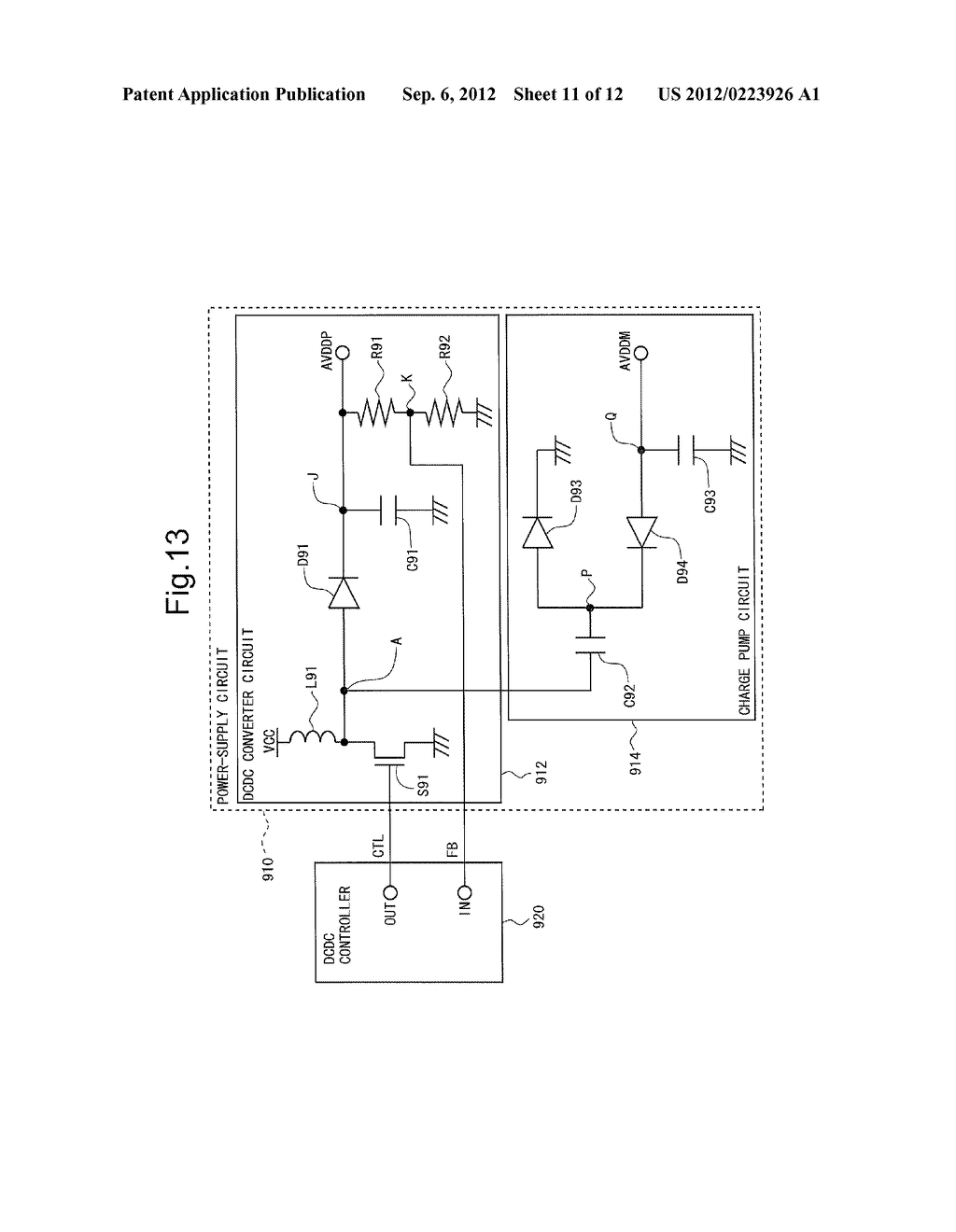 POWER-SUPPLY CIRCUIT AND LIQUID CRYSTAL DISPLAY DEVICE PROVIDED THEREWITH - diagram, schematic, and image 12