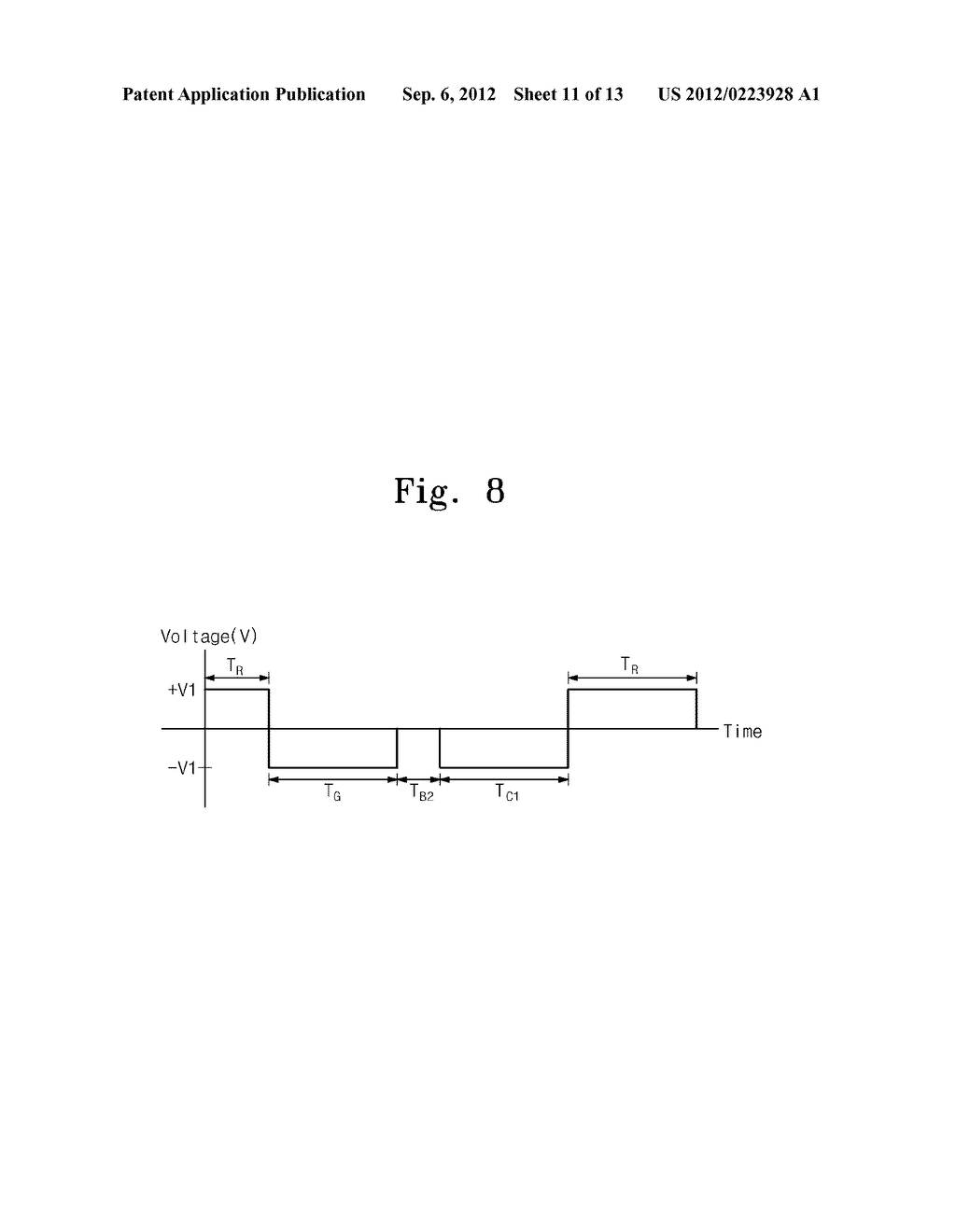 METHOD FOR DRIVING ELECTROPHORESIS DISPLAY DEVICE - diagram, schematic, and image 12