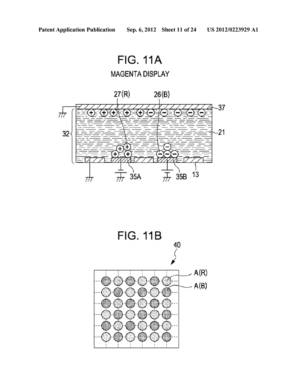 ELECTROPHORETIC DISPLAY DEVICE, DRIVING METHOD OF THE SAME, AND ELECTRONIC     APPARATUS - diagram, schematic, and image 12