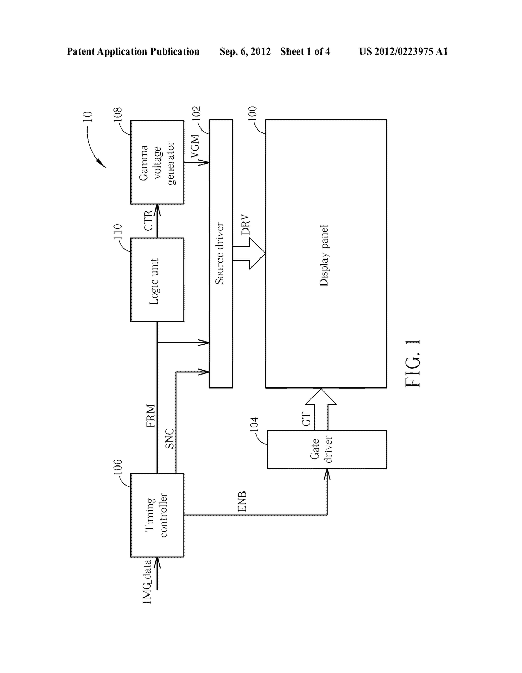 Method and Apparatus for Driving a Display Device - diagram, schematic, and image 02
