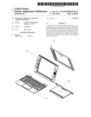 Foldable carrying case for a tablet computer diagram and image