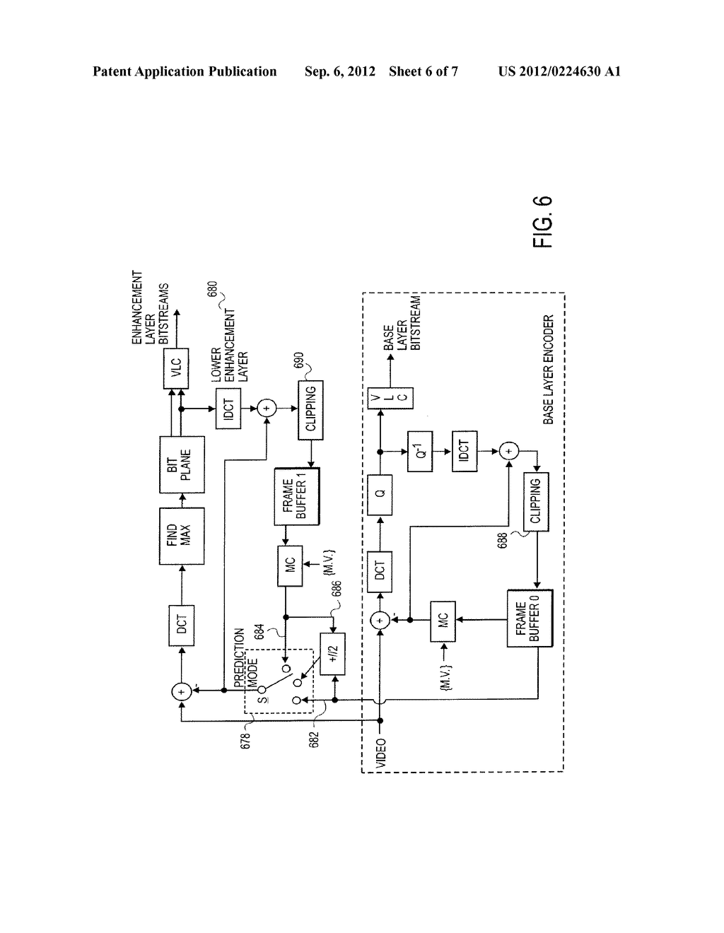 METHOD AND APPARATUS FOR PROVIDING PREDICTION MODE FINE GRANULARITY     SCALABILITY - diagram, schematic, and image 07